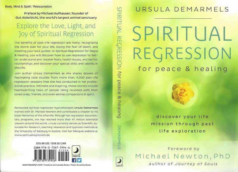 Book Cover: Ursula Demarmels - Spiritual Regression for Peace and Healing (c) Llewellyn, MN, U.S.A.