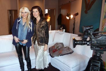 Past Life Regression of Heavy Metal Queen Doro Pesch by spiritual regression therapist Ursula Demarmels for RTL Television: Magics and Mystics - Beyond Reality? - daily from April 8-12, 2013 in the lunchtime magazine Punkt 12 (c) Ursula Demarmels
