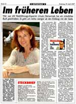 Portrait on Ursula Demarmels in the largest Austrian daily newspaper, the Kronenzeitung / SALZBURG-KRONE. Author: Harald BRODNIG, editor and chief of office (29.4.07; jpg; 429 kB; with kind agreement of the Kronenzeitung)